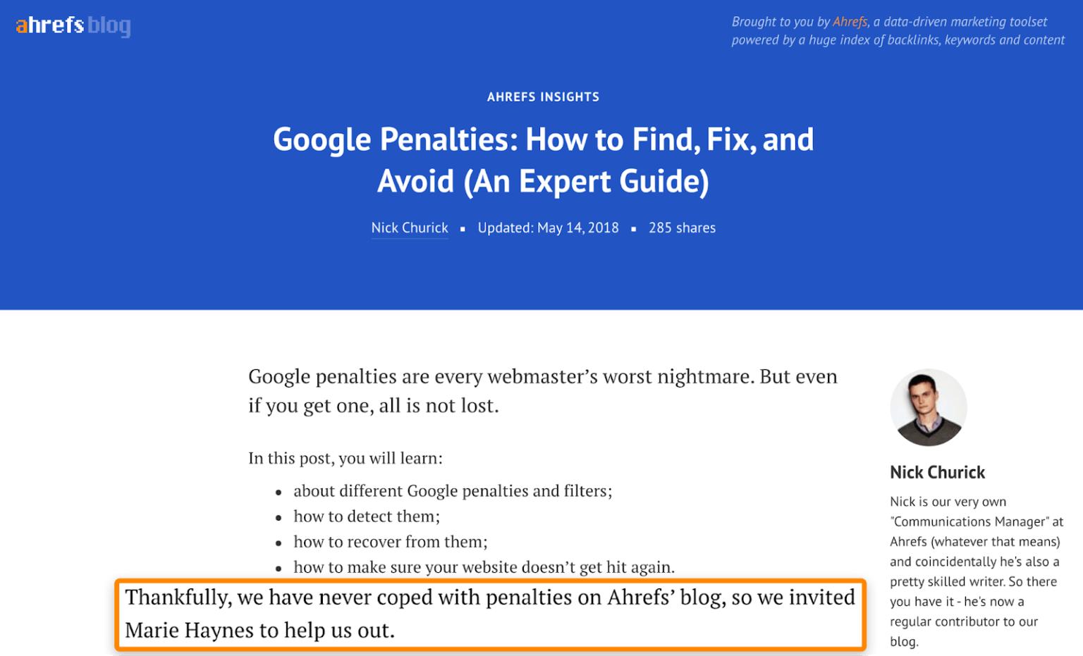 پست مهمان و جلوگیری از پنالتی گوگل